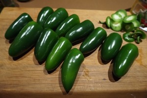 Jalapeno peppers ready for a Green Chili Sauce 300x199 Green Chili Sauce