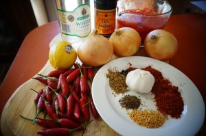 Sweet Chilli Sauce Ingredients 300x199 Sweet Chilli Sauce Recipe